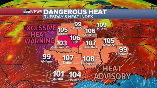 PHOTO: An excessive heat warning has been issued in the Plains. (ABC News)