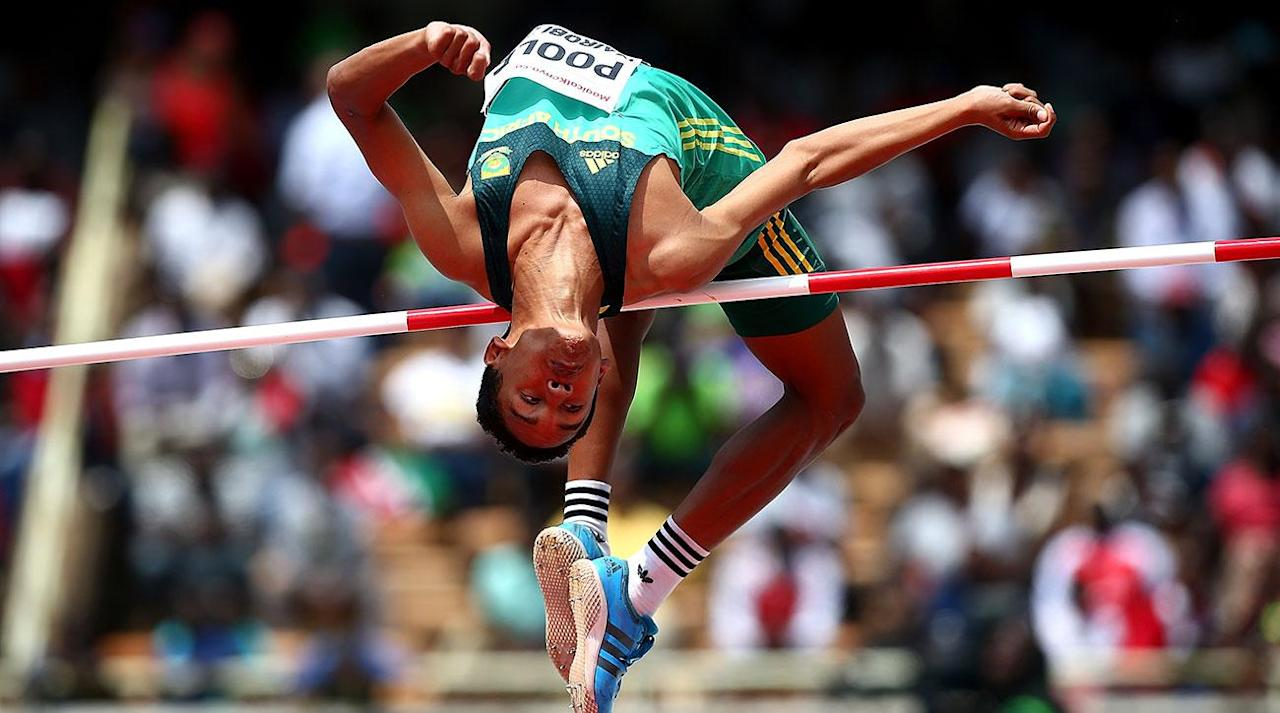 """<p>17-year-old Breyton Poole is just 5'7"""" but wowed a packed stadium over the weekend as he cleared a 2.24-meter (7' 4¼"""") high jump mark at the IAAF U18 Championships in Nairobi, Kenya.</p><p>Germany's Chima Ihenetu took silver with his 2.14-meter jump.</p><p>Poole <a rel=""""nofollow"""" href=""""https://ec.yimg.com/ec?url=http%3a%2f%2fcitizen.co.za%2fsport%2fathletics%2f1575168%2fbreyton-poole-the-tiny-boy-whos-conquered-the-high-jump%2f%26quot%3b%26gt%3btold&t=1500597698&sig=bdh8aM2or9KcPQowF4E81A--~C reporters</a> that he started high jumping at the age of 10 and also dabbled in rugby. His coach, Bennie Schlechder, says that they shelved rugby to focus on the championships in Kenya. Poole reportedly trains for one hour a day for just four or three days per week.</p><p>""""They thought I wouldn't be able to adapt to it because I was so short,"""" he said after winning gold. """"I proved them wrong.""""</p><p><em>Watch the clearance below:</em></p><p>South Africa is booming rwith track and field talent right now. Wayde van Niekerk, who won 400 meter gold in world record fashion at last summer's Olympics, could win gold in the 200 meters and 400 meters at next month's IAAF World Championships in London. Fellow Olympic gold medalist Caster Semenya is the heavy favorite for gold in the women's 800 meters.</p>"""