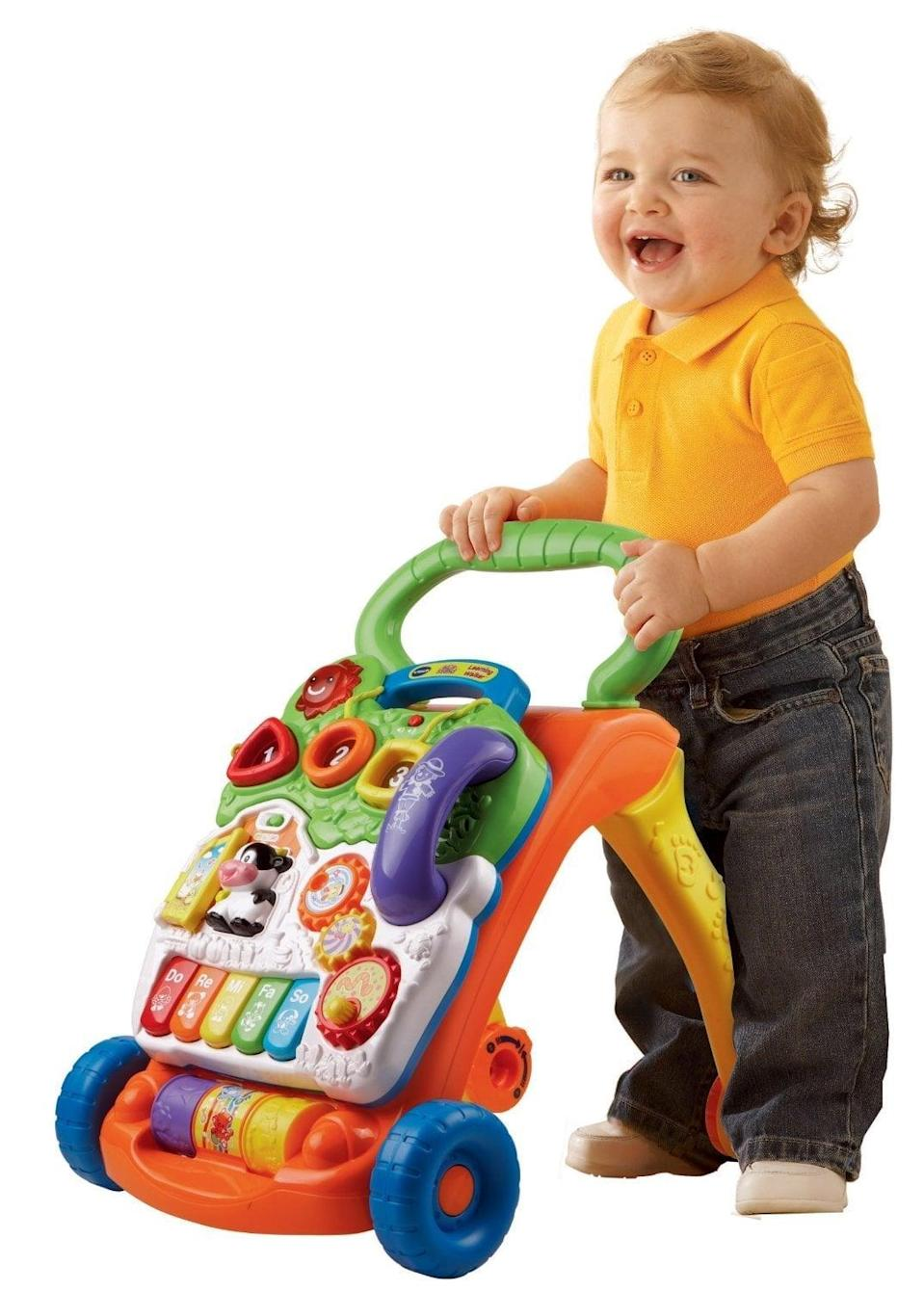 <p>Your toddler will grow quickly, but their toys can grow with them too! This <span>VTech Sit-to-Stand Learning Walker</span> ($35) is perfect to help them get moving.</p>