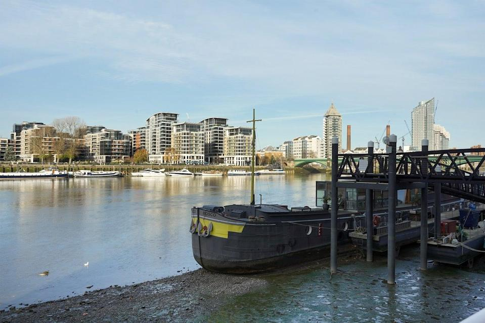 River setting: agent George Franks says the dock would suit people looking for somewhere to moor a houseboat, or a self-build enthusiast with a bit of imagination