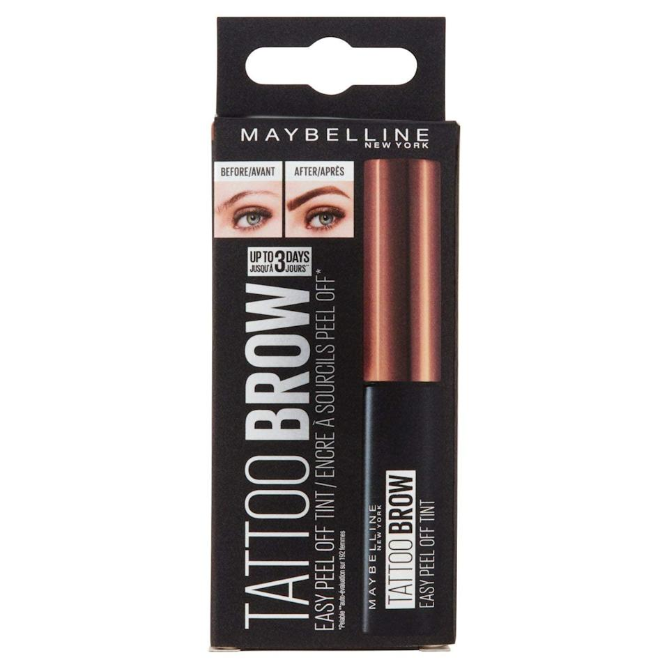 """<p>""""I was pleasantly surprised to find that the <span>Maybelline New York Brow Tattoo Longlasting Tint</span> ($17) actually worked and was not a gimmick. It's a great way to achieve a full and powdery brow. It's definitely my top brow drugstore pick."""" - <a href=""""https://www.instagram.com/skinmaestro/"""" class=""""link rapid-noclick-resp"""" rel=""""nofollow noopener"""" target=""""_blank"""" data-ylk=""""slk:René De La Garza"""">René De La Garza</a>, celebrity brow artist and facialist</p>"""