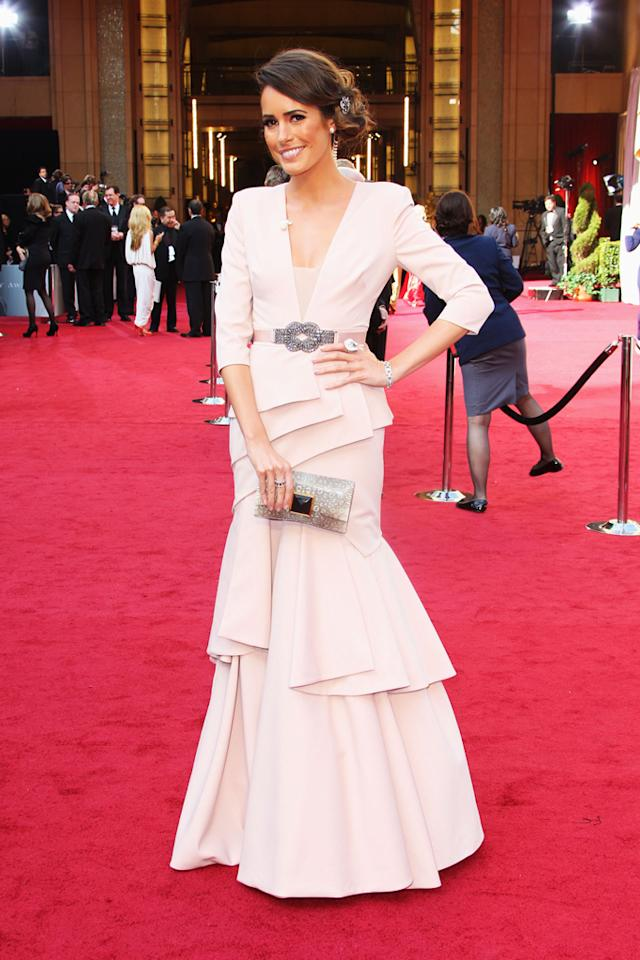 Louise Roe arrives at the 84th Annual Academy Awards in Hollywood, CA.