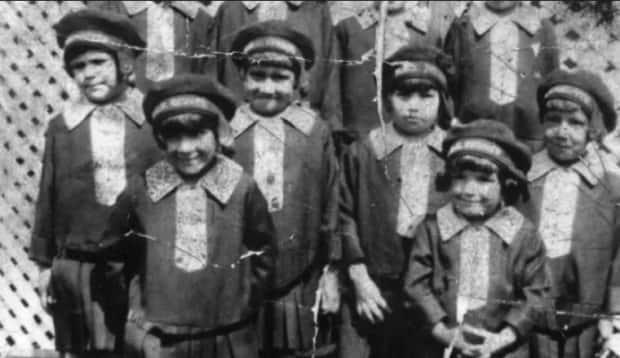 Thunderchild Indian Residential School near Delmas, Sask., had 117 students when it burned down in 1948. The Indian Residential Schools Adjudication Secretariat proposed creating 'static reports' from its database that would help determine which schools had the highest rates of abuse. But the federal government opposed the idea.  (Provincial Archives of Saskatchewan - image credit)