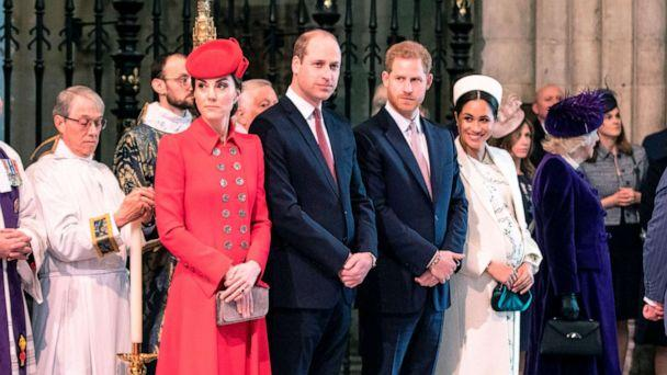 PHOTO: Catherine, Duchess of Cambridge, Prince William, Prince Harry and Meghan, Duchess of Sussex attend the Commonwealth Day service at Westminster Abbey in London, March 11, 2019. (Richard Pohle/AFP/Getty Images, FILE)