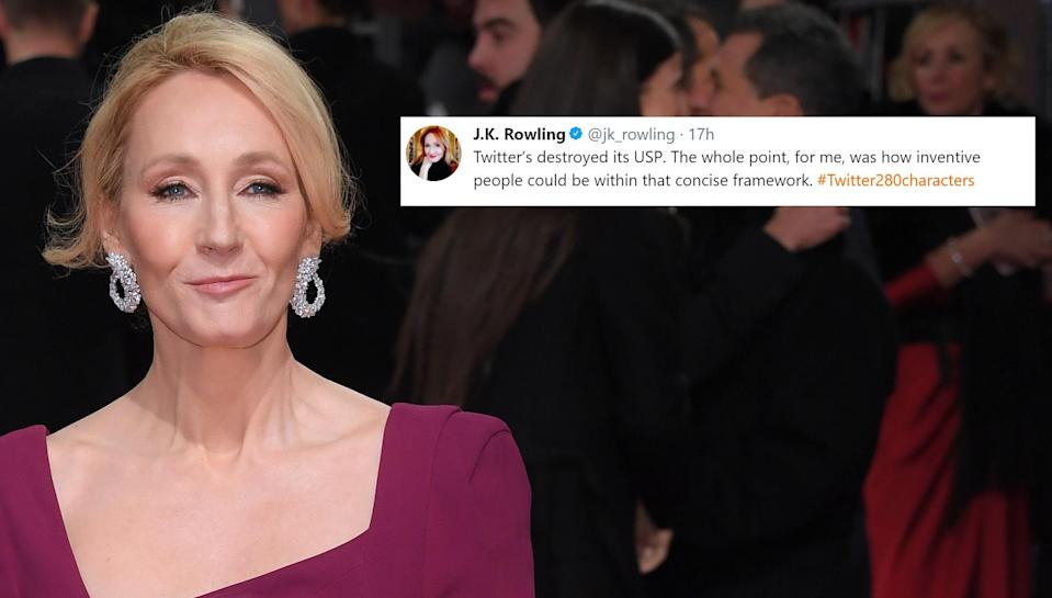 JK Rowling accused the micro-blogging site of ruining their USP. Copyright: [Rex]