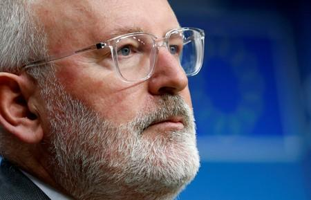 European Commission First Vice-President Frans Timmermans addresses a news conference during a European Union's General Affairs Council in Brussels