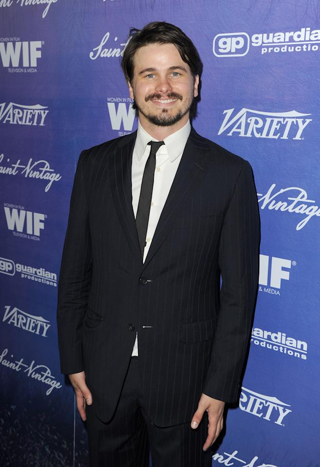 Actor Jason Ritter arrives at Variety and Women in Film Pre-EMMY Event presented by Saint Vintage at Montage Beverly Hills on September 21, 2012 in Beverly Hills, California.  (Photo by Kevin Winter/WireImage)