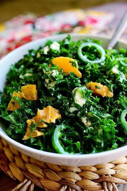 """<p>Why not try something different on Thanksgiving this year—like a kale salad with jalapeños and citrus. It's sure to stand out amongst the classic holiday dishes. </p><p><strong><a href=""""https://www.thepioneerwoman.com/food-cooking/recipes/a11567/kale-citrus-salad/"""" rel=""""nofollow noopener"""" target=""""_blank"""" data-ylk=""""slk:Get the recipe."""" class=""""link rapid-noclick-resp"""">Get the recipe.</a></strong> </p>"""