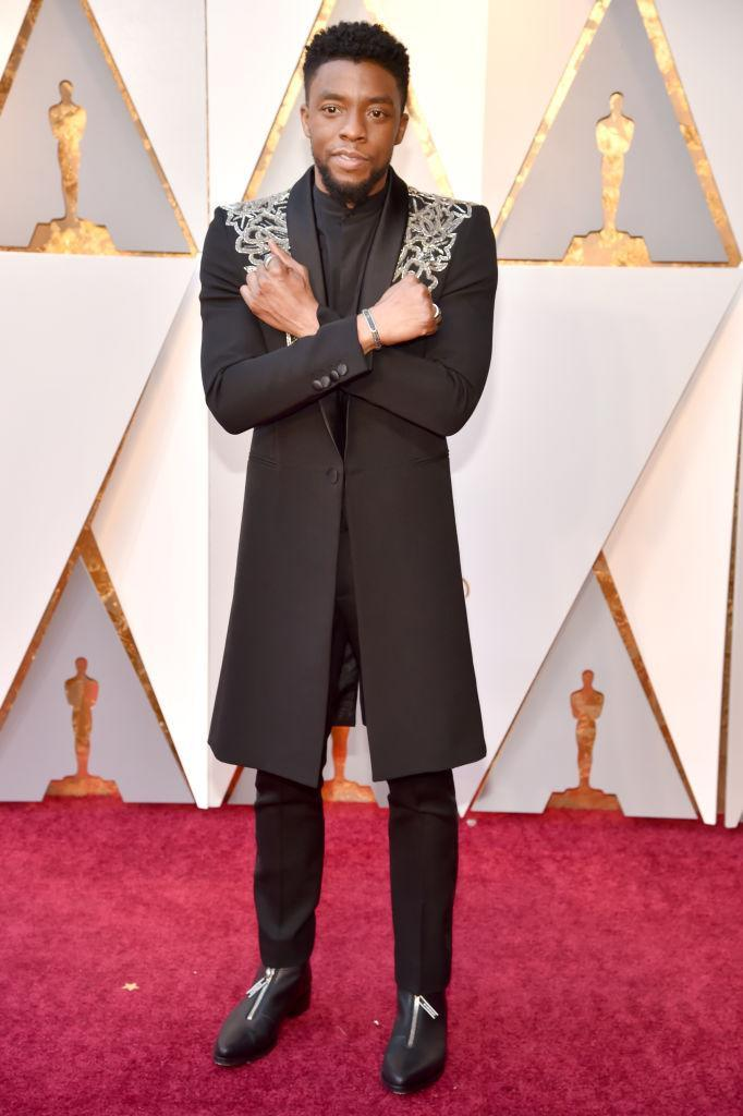 <p>Chadwick Boseman attends the 90th Academy Awards. (Photo: Getty Images) </p>