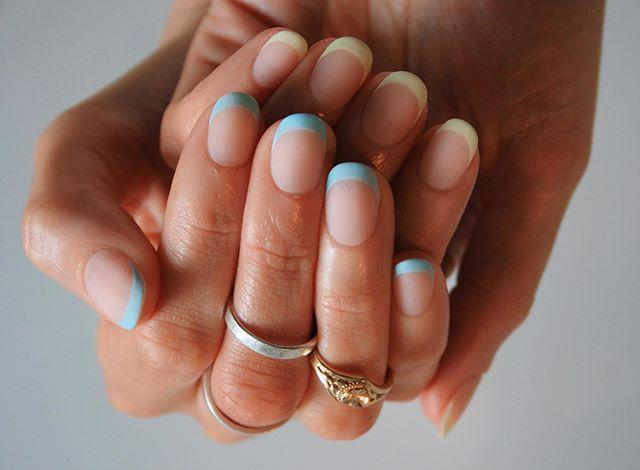 """<p>Pastel colored tips are pretty and soft. Finish them off with a matte topcoat to keep them subtle.</p><p><a class=""""link rapid-noclick-resp"""" href=""""https://www.amazon.com/OPI-Nail-Lacquer-Polly-Want/dp/B06WP6RMV4/?tag=syn-yahoo-20&ascsubtag=%5Bartid%7C10055.g.1267%5Bsrc%7Cyahoo-us"""" rel=""""nofollow noopener"""" target=""""_blank"""" data-ylk=""""slk:SHOP PASTEL POLISH"""">SHOP PASTEL POLISH</a></p><p><a href=""""https://www.instagram.com/p/CCoKxJCsyRt/&hidecaption=true"""" rel=""""nofollow noopener"""" target=""""_blank"""" data-ylk=""""slk:See the original post on Instagram"""" class=""""link rapid-noclick-resp"""">See the original post on Instagram</a></p>"""