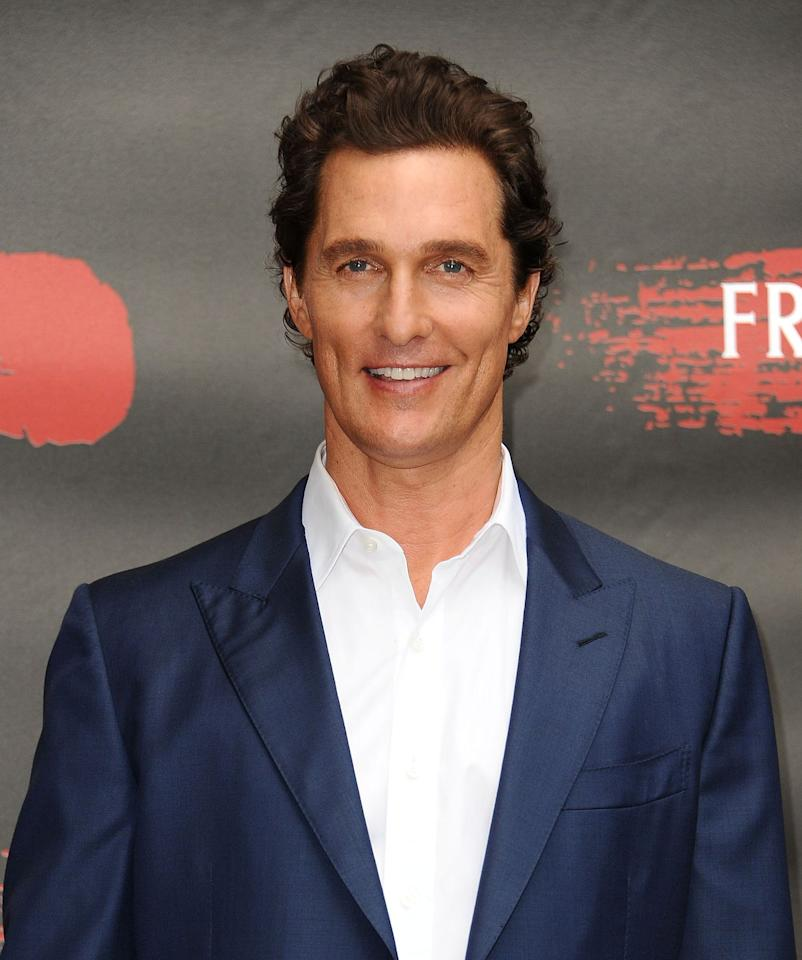"""<p>McConaughey is just as smokin' as he was when he played David Wooderson in <em>Dazed and Confused </em>nearly 20 years ago—and we suspect it probably has something to do with his workouts. McConaughey, who turns 50 on <strong>November 4</strong>, prefers adventurous outdoor workouts rather than pumping iron at the gym. The actor told <a href=""""https://www.mensjournal.com/health-fitness/matthew-mcconaughey-shares-his-adventurous-outdoor-workout-routine/"""" target=""""_blank""""><em>Men's Journal</em></a> that his favorite workouts are in the water, so you can catch him swimming laps in Lake Austin.</p>"""