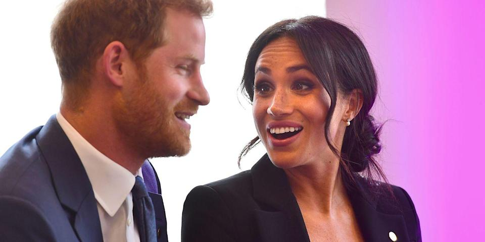 "<p>What you can't see in this picture is the evidence that Prince Harry could not physically keep his hands of Meghan as the pair chatted to sick children at the WellChild Awards recently. Watch the video <a href=""https://www.cosmopolitan.com/uk/reports/a23006123/prince-harry-rubbing-meghan-markle-back-video/"" rel=""nofollow noopener"" target=""_blank"" data-ylk=""slk:here"" class=""link rapid-noclick-resp"">here</a> to see <em>just </em>how much back rubbing and caressing Harry did.</p>"