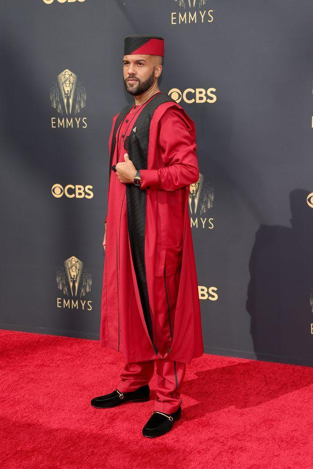 O-T Fagbenle arrives for the 73rd Primetime Emmy Awards at L.A. Live on Sunday in Los Angeles. (Photo: Rich Fury/Getty Images)