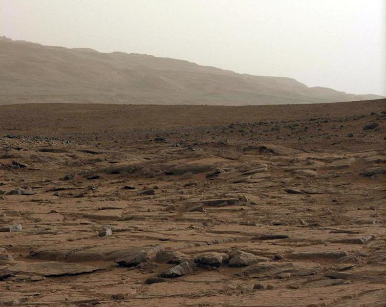A general view of the Red Planet as captured by NASA's Mars rover Curiosity, on January 27, 2013 (AFP Photo/)