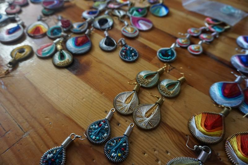 Drop Earrings Not Bombs from Small Projects/Muhra Istanbul.