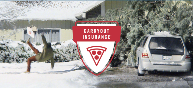 Domino's carryout insurance, launched last year. Screenshot from Domino's website.