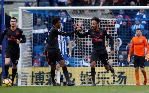 """What now already feels like Arsene Wenger's long goodbye reached a new low at Brighton and Hove Albion's Amex Stadium yesterday. Not simply for a defeat that raised familiar questions about the quality and mentality of this Arsenal team but a chant from the away end after 33 minutes that would once have been unthinkable. """"We want Wenger out,"""" sang a significant number of Arsenal fans. It lasted seconds rather than minutes but it felt like a concerted and very audible point was being made that was different to past pockets of protest. The away fans have previously been most supportive of Wenger but, with former chairman Peter Hill-Wood even calling for change this weekend, it has become increasing difficult to find an outside voice arguing for the status-quo. Petr Cech accepts personal responsibility for Arsenal's defeat to Brighton #BHAARShttps://t.co/OqMx46BmUB— Telegraph Football (@TeleFootball) March 4, 2018 Wenger had not moved from his dugout seat during what was among the worst half hours in his entire Arsenal tenure. His team were two goals down against newly promoted opposition and frankly fortunate not to have been further behind. """"What can I say? I understand the frustration,"""" he later said. The Brighton supporters, who had last hosted an Arsenal team in the top-flight some 34 years ago, even could not resist a predictable but still humiliating take on the situation. """"Arsene Wenger, we want you to stay,"""" they chanted. It is increasingly unlikely that they will be granted their wish, although the Europa League - in which Arsenal will face AC Milan on Thursday – does offer the one remaining straw at which Wenger can now realistically clutch. Dunk! Brighton score from a corner Credit: Reuters Arsenal did ultimately almost still salvage a point here but what was an eighth defeat in 2018 alone means that the gap to Tottenham in fourth – and Manchester City at the top - has further widened this weekend to respectively 13 and 33 points. A repeated failure to suff"""