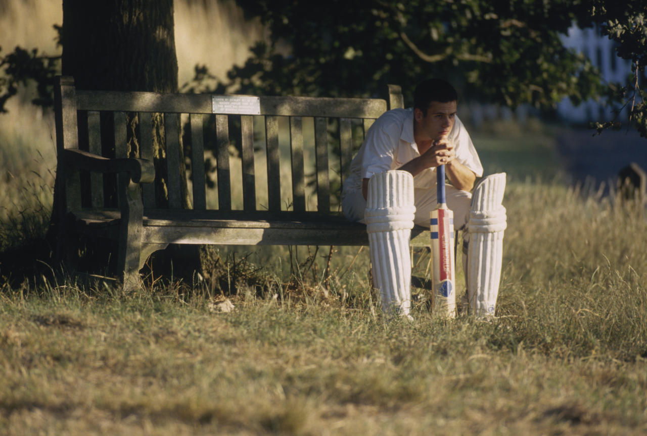 OCKLEY - JULY 22:  A batsman looks disheartened during a Village Cricket match held on July 22, 1995 in Ockley, Surrey, England. (Photo by Adrian Murrell/Getty Images)