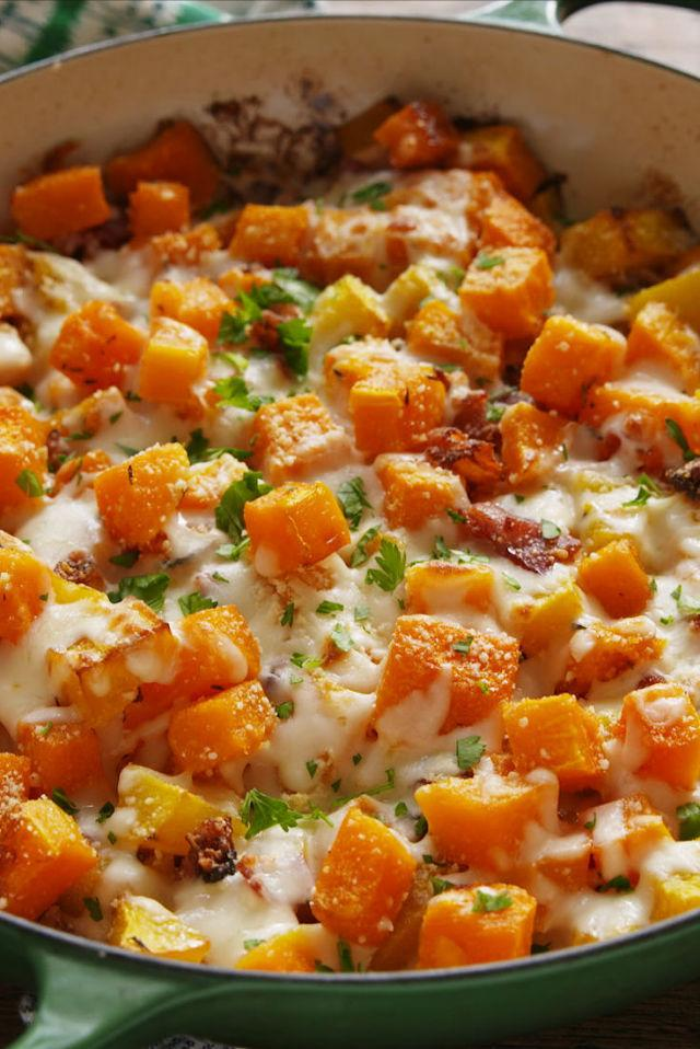 """<p>So addictive.</p><p>Get the recipe from <a rel=""""nofollow"""" href=""""http://www.delish.com/cooking/recipe-ideas/recipes/a56379/cheesy-bacon-butternut-squash-recipe/"""">Delish</a>.</p><p><strong><em>BUY NOW: Chef's Knife, $16.30, <a rel=""""nofollow"""" href=""""https://www.amazon.com/Cuisinart-Classic-Triple-8-Inch-C77TR-CF-25/dp/B00GIBK8RA/?tag=syndication-20&&ascsubtag=[artid"""">amazon.com</a>.</em></strong></p>"""