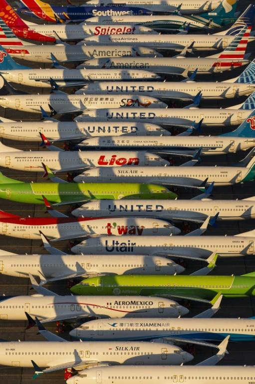 The global fleet of Boeing 737 MAX planes have been grounded since March following two deadly crashes (AFP Photo/David Ryder)