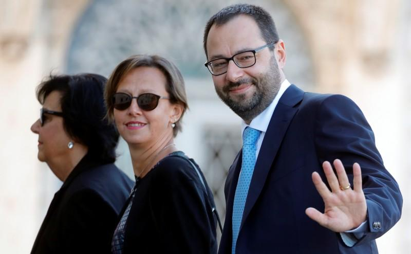 Patuanelli arrives at Quirinale Presidential Palace in Rome