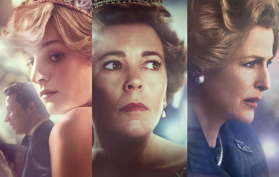 Emma Corrin, Olivia Colman and Gillian Anderson in The Crown (Photo: Netflix)