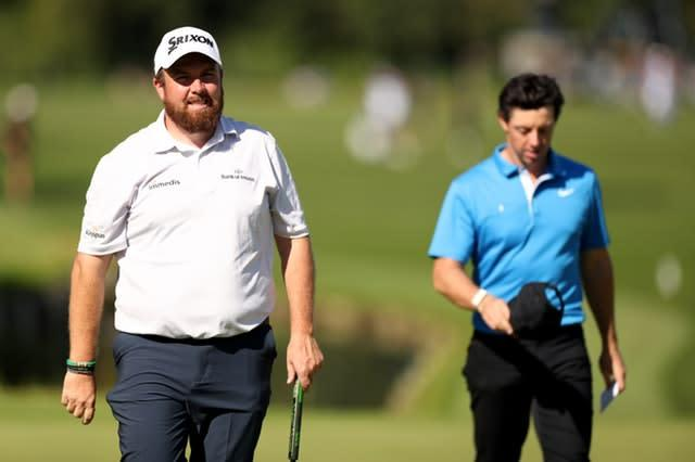 Shane Lowry (left) says there is no chance of him resembling Rory McIlroy (right) despite working out in the gym (Bradley Collyer/PA)