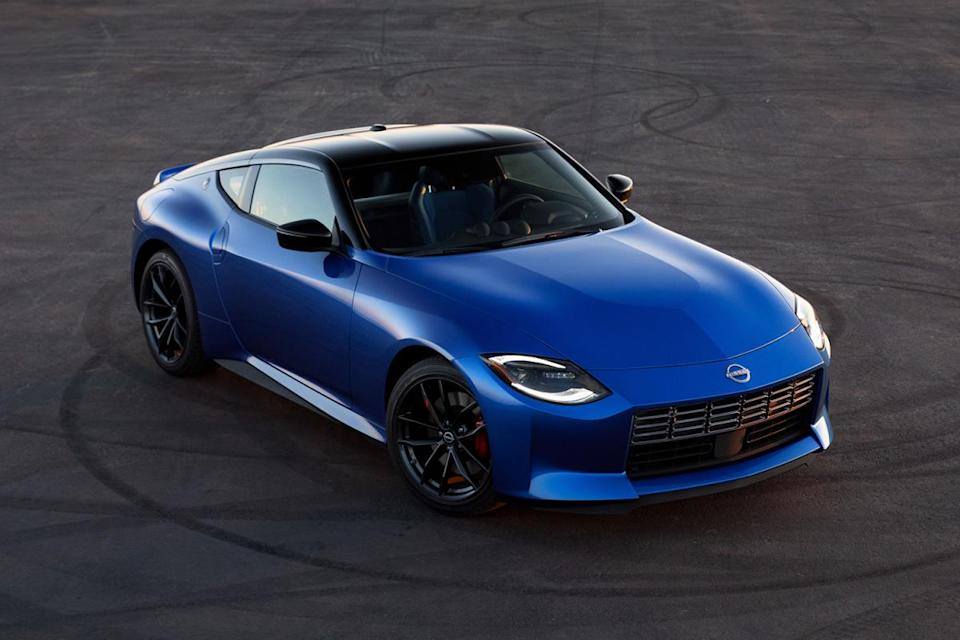 The new 2023 Nissan Z sports car in blue. Can the Japanese successor to the 370Z be the new benchmark for affordable sports cars?