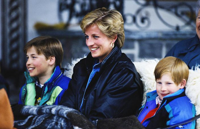 Image: Diana With Sons In Lech (Jayne Fincher / Getty Images)