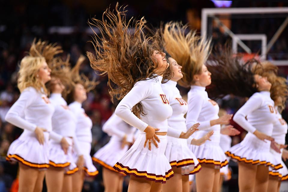 An extensive Los Angeles Times report Thursday shone light on the allegedly toxic culture among the USC Song Girls, perpetrated by former coach Lori Nelson. (Photo by Brian Rothmuller/Icon Sportswire via Getty Images)