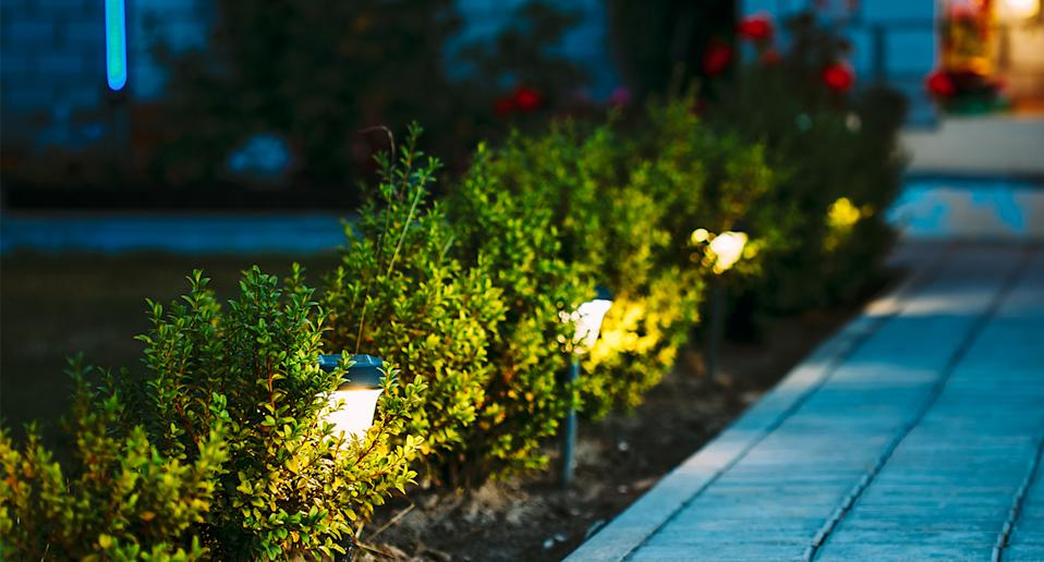 Add some solar-powered garden lights to your garden this summer. (Getty Images)