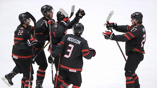 Canada will square off against Russia in the gold medal game at the 2020 World Juniors after defeating Finland on Saturday. (Peter Kovalev\TASS via Getty Images)