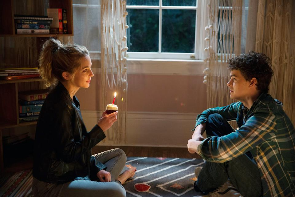HAPPY DEATH DAY, from left: Jessica Rothe, Israel Broussard, 2017. ph: Patti Perret. Universal Studios/courtesy Everett Collection