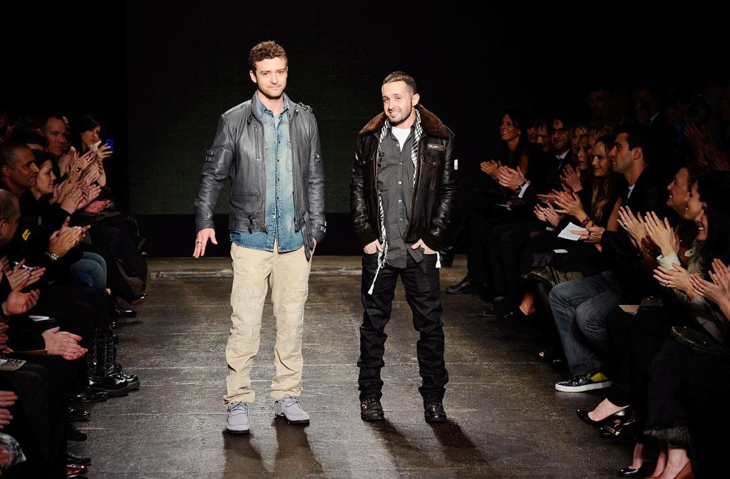 "Justin Timberlake and his best friend and business partner Trace Ayala were met with loud applause as they hit the runway at the end of their William Rast show. Stefan Gosatti/<a href=""http://www.gettyimages.com/"" target=""new"">GettyImages.com</a> - February 17, 2010"