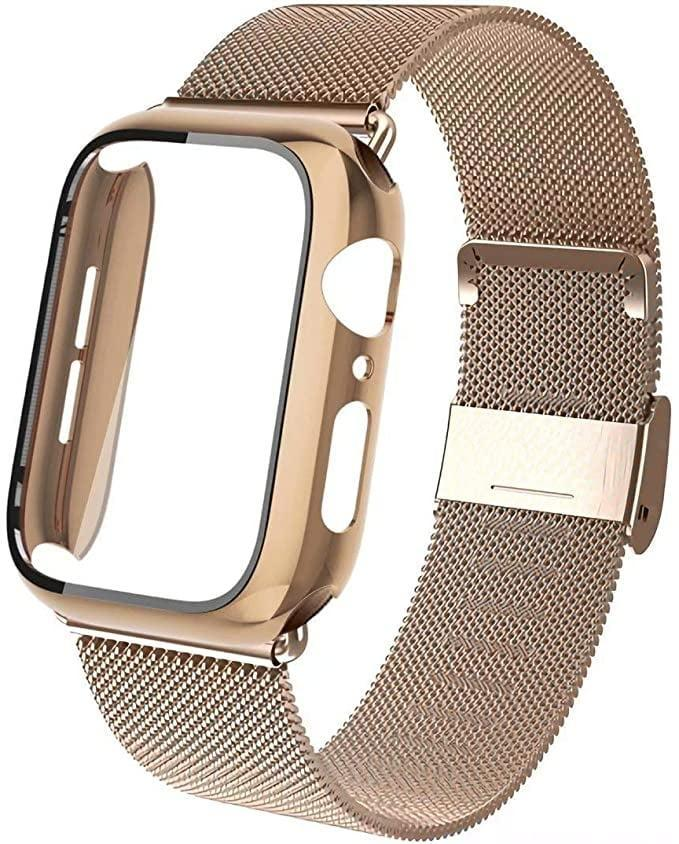 <p>The <span>Stainless Steel Mesh Loop Wristband With Screen Protector Hard Case</span> ($13) is a chic way to dress up any look.</p>