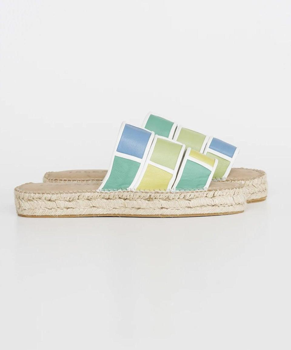 """<strong><h2>Isleñas</h2></strong>Launched in 2018, Isleñas is a sustainable footwear brand known for its color-blocked espadrille sandal styles. The line also runs a training and manufacturing program helping women through the non-profit Centro Sor Isolina Ferré in Puerto Rico. <br><br><em>Shop <a href=""""https://lasislenas.com/"""" rel=""""nofollow noopener"""" target=""""_blank"""" data-ylk=""""slk:Isleñas"""" class=""""link rapid-noclick-resp"""">Isleñas</a></em>"""