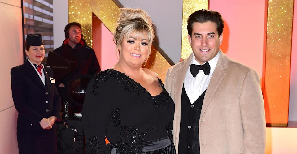 Collins with her TOWIE boyfriend James Argent. (PA Images)