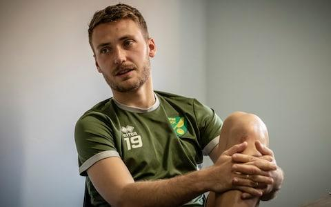 <span>Midfielder Tom Trybull says his friends back in Germany are now Norwich fans</span> <span>Credit: jason bye </span>