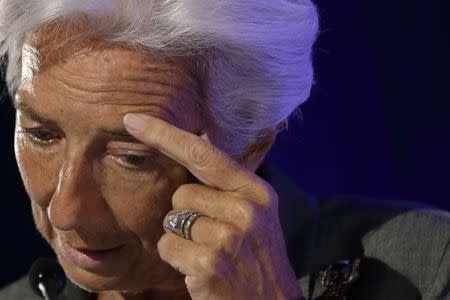 International Monetary Fund Managing Director Christine Lagarde attends a conference about the future of the Euro zone in Paris