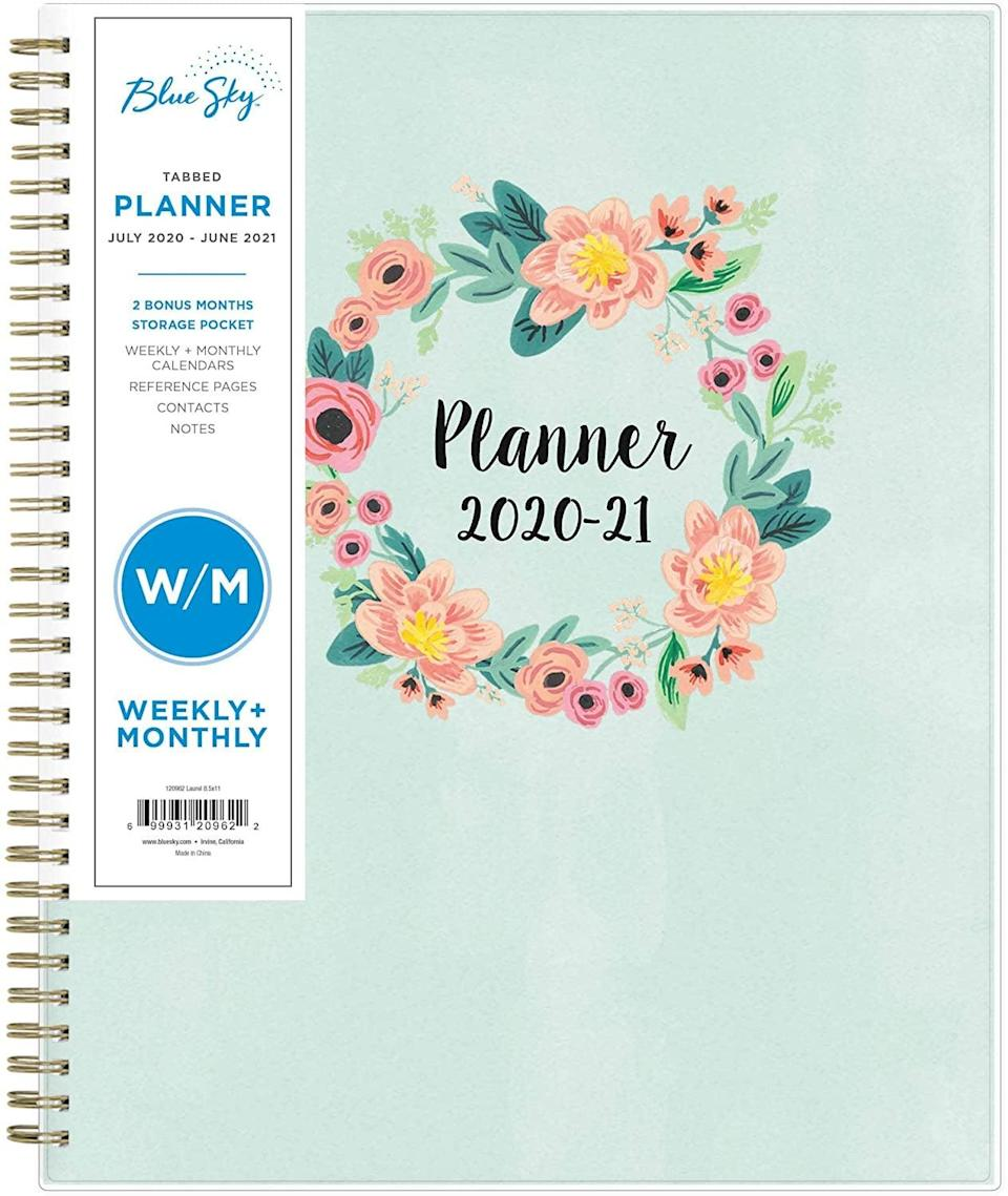<p>Get your year off on the right foot with this <span>Blue Sky 2020-2021 Academic Year Weekly & Monthly Planner</span> ($11).</p>