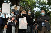 Families of some of the victims of Aug. 4 explosion at Beirut port protest in Beirut
