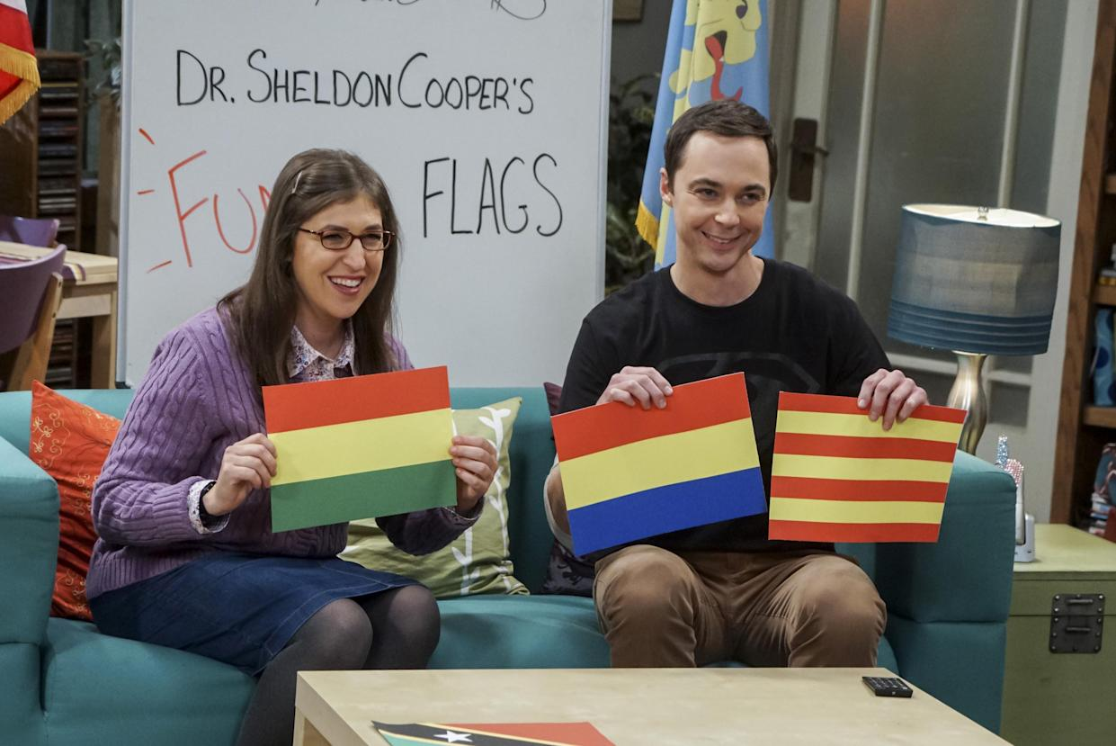 Bialik and Jim Parsons on 'The Big Bang Theory' (Photo: Monty Brinton / ©CBS / courtesy Everett Collection)