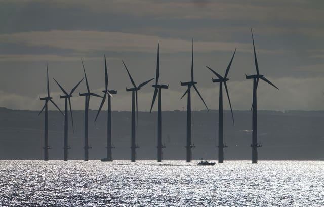 Teesside Wind Farm near the mouth of the River Tees