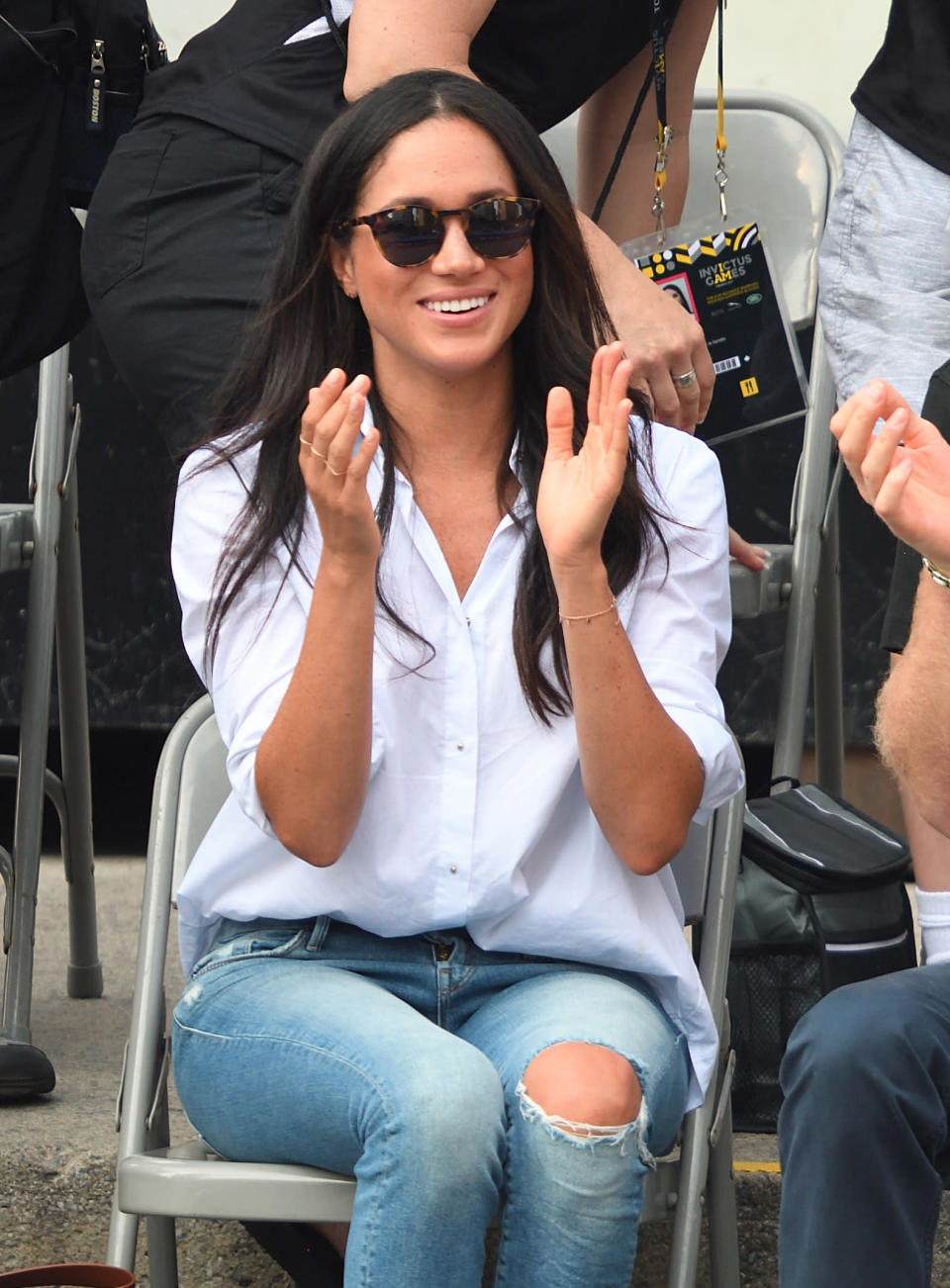 <p>Those within the fashion sphere might be familiar with US designer Misha Nonoo, but the rest of the world probably didn't recognise her name when Markle picked out a shirt from the brand to wear to September's Invictus Games. [Photo: Getty] </p>