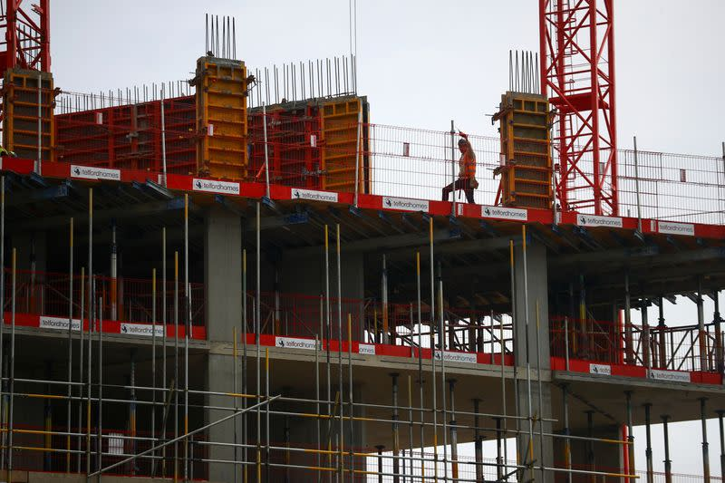 UK construction activity jumps in July, but jobs at risk: PMI