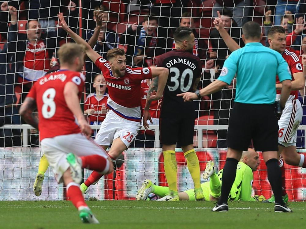 Chambers was as surprised as anyone when he restored Boro's lead (Getty)