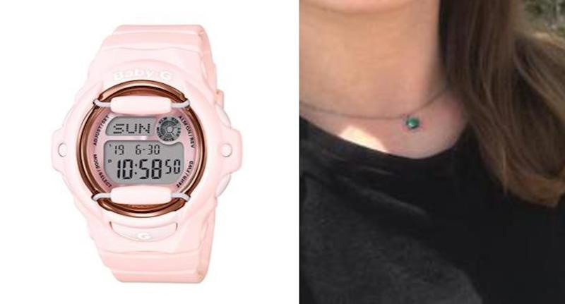 New Zealand Police have released items of missing backpacker Grace Millane's watch (left) and necklace (right)