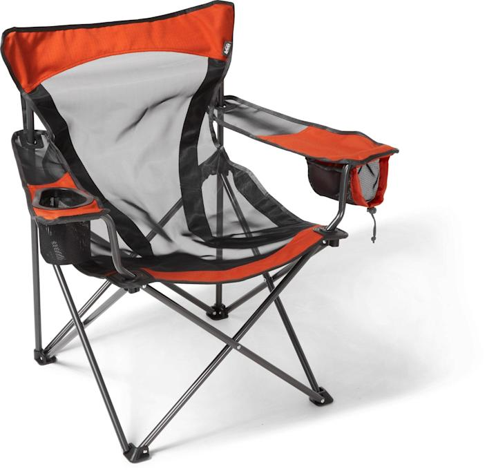 """<h2>REI Co-op Camp X Chair</h2><br>The original camp chair is new and improved with this modern iteration. The X-Web technology evenly distributes your weight, the mesh fabric dries quickly, and a drop-down pocket with a string and cord lock keeps small stored items from falling out. <br><br><em>Shop<strong> <a href=""""https://www.rei.com/b/rei-co-op"""" rel=""""nofollow noopener"""" target=""""_blank"""" data-ylk=""""slk:REI Co-op"""" class=""""link rapid-noclick-resp"""">REI Co-op</a></strong></em><br><br><strong>REI Co-op</strong> Camp X Chair, $, available at <a href=""""https://go.skimresources.com/?id=30283X879131&url=https%3A%2F%2Fwww.rei.com%2Fproduct%2F847136%2Frei-co-op-camp-x-chair"""" rel=""""nofollow noopener"""" target=""""_blank"""" data-ylk=""""slk:REI"""" class=""""link rapid-noclick-resp"""">REI</a>"""