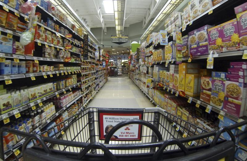 Breakfast cereal is shown for sale at a Ralphs grocery store in Del Mar, California
