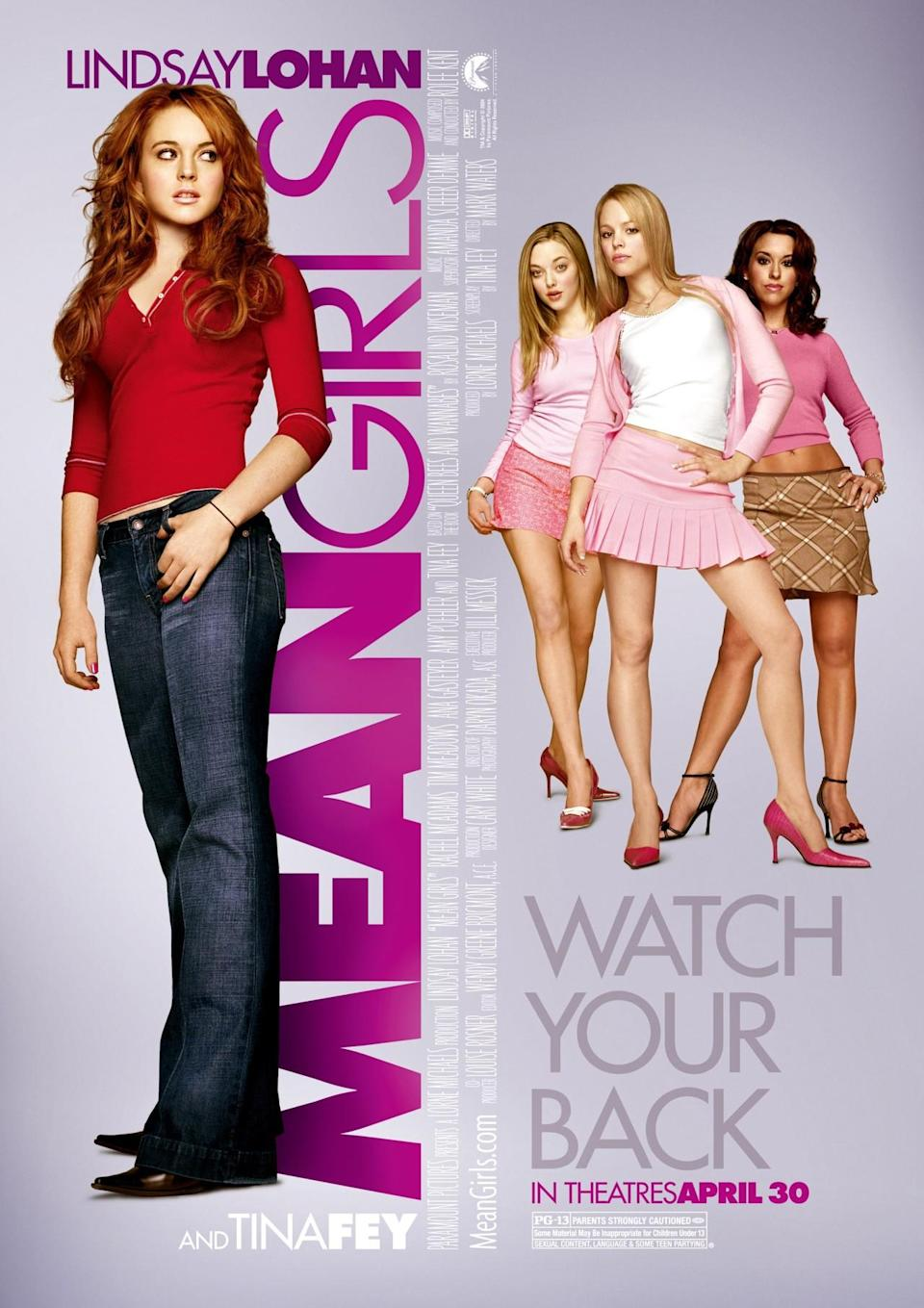 <p>OK, so the Plastics were mean, but remember how everyone wanted to be Regina George? Tina Fey's iconic film wasn't just a teen comedy — it explored female high school cliques and what it means to find out who your true friends are. When the Plastics performed their annual sexy Santa dance onstage in front of their entire high school, you wanted to dislike them and be them at the same time. <i>(Source: Paramount Pictures)</i></p>